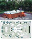 "Outdoor whirlpool,spa pool with 32"" pop-up TV(SPA-819)"