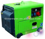 Slient air cooled diesel welder generator