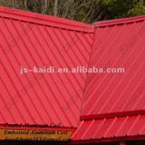 Post red diamond embossed aluminum coil for roofing sheet