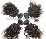 Curly Remy Peruvian hair extension/hair wefts/hair weaving