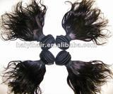 Wavy Virgin Peruvian hair extension/hair wefts/hair weaving