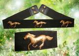 horse moulded wide elastic belt.fashion belt
