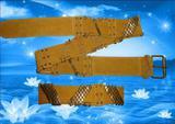 rhombus metal studs and hoops women belt.fashion belt