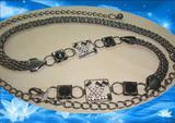 rhinestone hollow chain belt .women belt