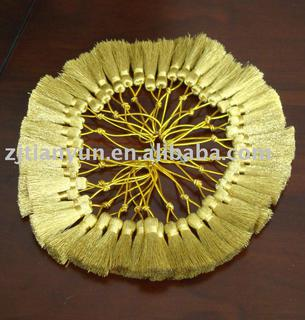 Decoration Golden metallic curtain Tassel fringe
