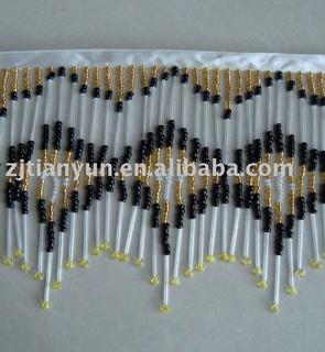 beaded handmade fringe trimming
