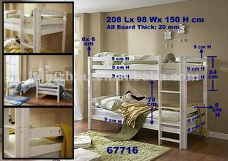 Separable White Bunk Bed For Kids Or Children China Suppliers 631663