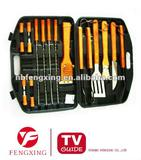 18PC BBQ Sets WIth Woden Handle,Barbecue Set