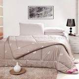 100%Cotton Fabric and Yak Nap Filling Stitching Brown Printed Quilt