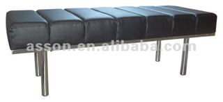 Leather Bench/ Metal Bench/ leisure Bench-ABL0006S