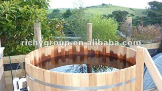 Round Wooden hot tub RWHA-6X4-RC-1O