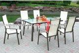 UNT-823 Garden mesh chair and table set