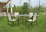 UNT-061 alumunum mesh chair and table set