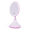 Multi-use round shaped plastic frame cosmetic mirror with night lamp