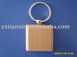 wooden keychain/wooden key ring