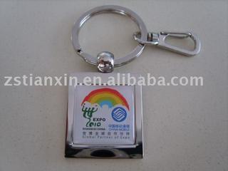 rectangle key chain/rectangle key holder/metal key tags