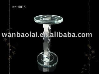 Clear Crystal Candle Holder(znt0015)