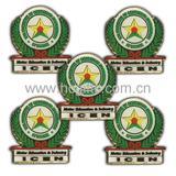 Round green Lapel Pin