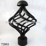 decor curtain rod finials