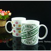 Eco-Friendly Decal Ceramic Coffee White Mug
