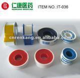 Surgical plaster with plastic cover