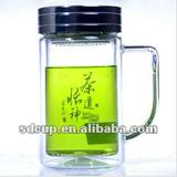 Double layer Glass Water Bottles With Handle