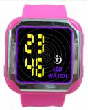 silicone wrist watch,silicone strap LED watch
