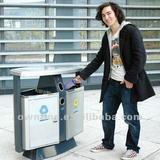 Street Stainless Steel Dustbin with 72.6L Capacity