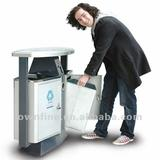 72.6litre Street Outdoor Stainless Trash Can