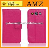 For Samsung Galaxy S3 I9300 Lychee Wallet flip leather Case