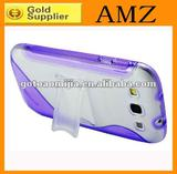 For Samsung galaxy SIII I9300 tpu+pc case with stand