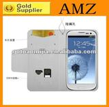For Samsung S3 i9300 Leather Case With Card&money slot