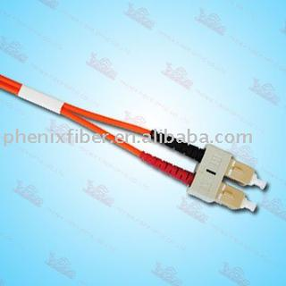 SC PC Duplex Fiber optics patch cord