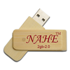 2gb Wooden Swivel USB Flash Drive