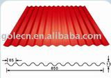 Corrugated aluminium sheet for roofing insulation