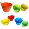 pe bucket,plastic bucket,garden bucket,flexible tub,flexi tubtrug