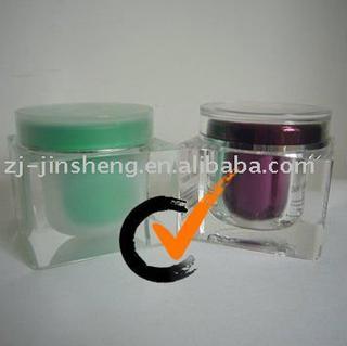 200g Acrylic Cosmetic Square Round Cap Jars Body Glitter