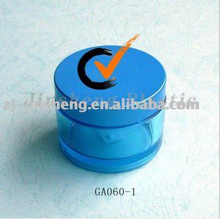 PETG Cosmetic Round Jars Sunproof Cream 60ml