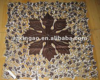 latest flower embroidery table cloth