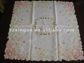 flower embroidery table cloth