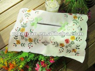 nice flower embroidery tissue box