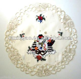 Christmas embroidery doily