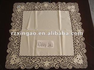 uni-color embroidery table cloth