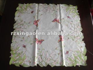 butterfly embroidery tablecloth