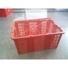 Red Fresh style Streaking large size plastic carry basket