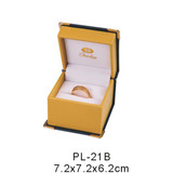 PL-21 Leather plastic jewelry packing box with cornerite