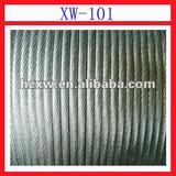 XW101 Zinc 5%Aluminum alloy coated galfan wire strand