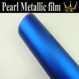 New Blue Matte Auto metallic film/car body pearl car vinyl