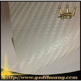 white 3D Carbon fiber stickers with air bubbles 1.52*30m/roll