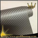 Grey 3D Carbon fiber stickers with air bubbles 1.52*30m/roll